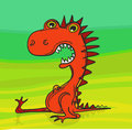 Red dragon simple vector drawing of hungry Royalty Free Stock Image