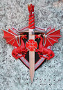 Red Dragon sword Royalty Free Stock Photography