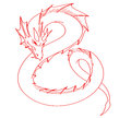 Red dragon tattoo Royalty Free Stock Photo