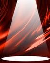 Red drapery Royalty Free Stock Photo