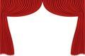 Red drapes rred curtain no mash no gradient vector Royalty Free Stock Photography