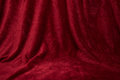 Red drapped velvet cloth Royalty Free Stock Photo