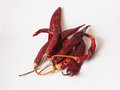 Red dried chilli food integrant for spicy cooking Royalty Free Stock Images
