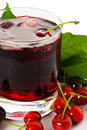 Red drink ank cherry Royalty Free Stock Images