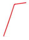 Red drinking cocktail straw Royalty Free Stock Photo