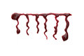 Red dripped blood. Halloween concept. Royalty Free Stock Photo