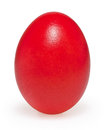Red easter egg isolated on white Royalty Free Stock Photo