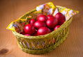 Red Easter Eggs Stock Images