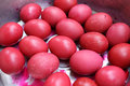 Red Easter Eggs Royalty Free Stock Photography