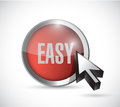 Red easy button concept illustration design Royalty Free Stock Photo