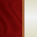 Red and ecru background Royalty Free Stock Photo