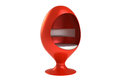 Red Egg Shaped Chair Royalty Free Stock Photography