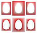 Red egg shaped frame collection easter Royalty Free Stock Photos