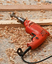Red electric drill Royalty Free Stock Photos