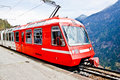 Red eleectric train, Switzerland 2 Stock Photo