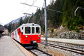 Red eleectric train, Switzerland 4 Royalty Free Stock Photos