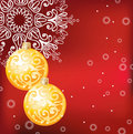 Red elegant Christmas background Royalty Free Stock Photo