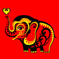 Red elephant Stock Photos