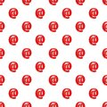 Red email sign pattern, cartoon style