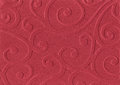Red embossed paper Stock Photography