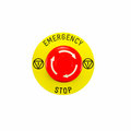 Red emergency button switch isolated on white background Royalty Free Stock Photo