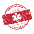 Red emergency stamp Royalty Free Stock Photos