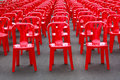 Red Empty Chairs Royalty Free Stock Photo