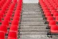 Red empty stadium seats Stock Photo