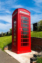 Red english phone box Royalty Free Stock Photo