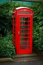 Red English telephone booth Royalty Free Stock Photos