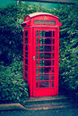 Red English telephone booth Royalty Free Stock Photo