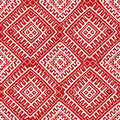 Red ethnic russian seamless pattern Royalty Free Stock Photo