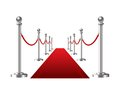 Red event carpet isolated on a white background vector illustration Royalty Free Stock Image