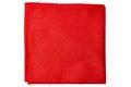 Red fabric napkin on white Royalty Free Stock Photo