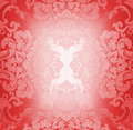 Red fabric pattern Stock Images
