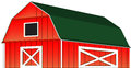 Red farm barn vector illustration isolated a from a eps file is available Royalty Free Stock Photography