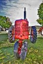 Red Farm Tractor Royalty Free Stock Photo