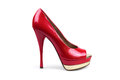 Red female shoe-1 Royalty Free Stock Photo