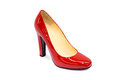 Red female shoe-3 Royalty Free Stock Photo