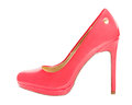 Red female shoe iolated. Royalty Free Stock Photo