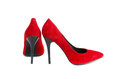 Red female shoes Stock Images