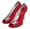 Red female shoes Stock Photos