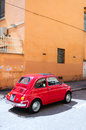 Red Fiat 500 Royalty Free Stock Images