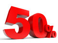Red fifty percent off. Discount 50%. Royalty Free Stock Photo