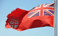 Red Fijian Flag Fluttering in The Breeze Royalty Free Stock Images