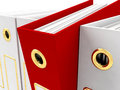 Red File Amongst White Royalty Free Stock Image