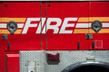 Red Fire department Truck on duty Royalty Free Stock Photo