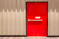 Red fire exit door Royalty Free Stock Photo