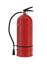 Red fire extinguisher isolated on white d illustration Royalty Free Stock Photography
