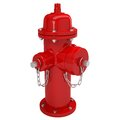 Red fire hydrant isolated render white background Royalty Free Stock Images